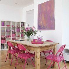 Esszimmer Wohnideen Möbel Dekoration Decoration Living Idea Interiors home dining room - Rosa Esszimmer