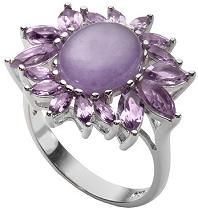 #Jewelry #Rings Les Bijoux Jade and Amethyst Ring