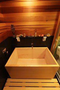 Hinoki Tub Nicely Installed.