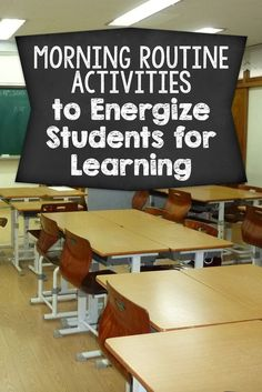 Struggling to get your students focused when they arrive for school? Here's several morning routine activities to get them energized for learning!