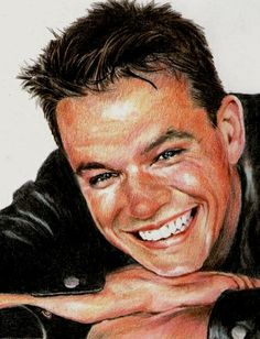 Matt Damon by vividec {from Italy} ~ colored pencils Matt Damon, Color Pencil Art, Coloured Pencils, Celebrity Portraits, Amazing Drawings, Online Gallery, Drawing People, Medium Art, Graphite