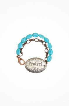 Gypsy SOULE Protect Me Bracelet #accessories  #jewelry  #bracelets  https://www.heeyy.com/gypsy-soule-protect-me-bracelet-silver-turquoise/
