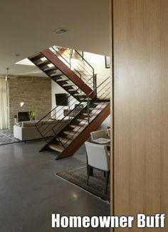 Minimalist home stairway ideas #Homeowner