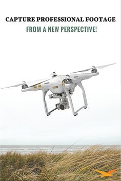 Meet the DJI Phantom 3 Professional Quadcopter Drone! Reach for the sky and capture professional quality footage from a new perspective. With a crystal-clear camera, real-time HD video display, and intuitive flight controls, what will you create?