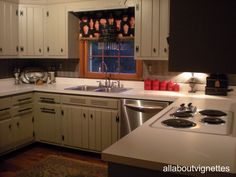 Awesome All About Vignettes: A Favorite Feature   A Back Splash Alternative In My. Knotty  Pine CabinetsKnotty Pine KitchenKitchen ...