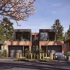 Under construction- one of our new dual occupancy- duplex developments. # dual occupancy # design # sydney # inside-out living Townhouse Exterior, Modern Townhouse, Townhouse Designs, Design Exterior, Facade Design, Brick Facade, Facade House, Duplex House Design, Modern House Design