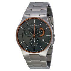 Skagen Balder Chronograph Grey Dial Titanium Men's Watch SKW6076 - Titanium - Skagen - Watches - Jomashop