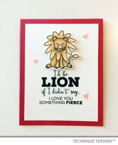 I'd Be Lion Handmade Card