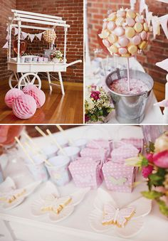 Girly Pink Butterfly Birthday Garden Party by the Little Big Company, Biscuits by The Iced Biscuit