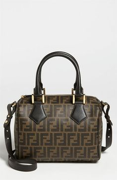788684b09f88 Fendi  Boston Zucca - Small  Logo Jacquard Satchel available at  Nordstrom