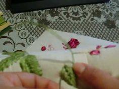 Cojin con petalos doblados - YouTube