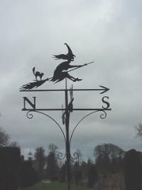 Witch Weathervane--this gal swings from East to West and North to South!
