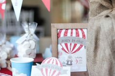 Rustic 1st Hot Air Balloon | CatchMyParty.com