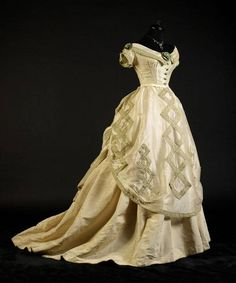 Evening dress circa 1868