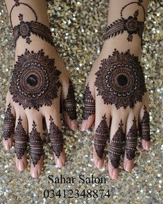 Mehndi henna designs are always searchable by Pakistani women and girls. Women, girls and also kids apply henna on their hands, feet and also on neck to look more gorgeous and traditional. Round Mehndi Design, Finger Henna Designs, Henna Art Designs, Mehndi Designs 2018, Mehndi Designs For Girls, Mehndi Designs For Beginners, Modern Mehndi Designs, Dulhan Mehndi Designs, Mehndi Design Photos