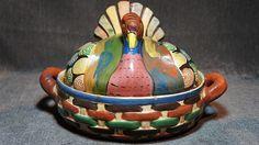 Vintage Mexican Pottery  Tlaquepaque Turkey by estatesaleguys,