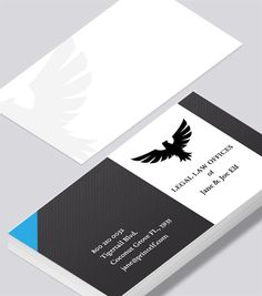 Legal Law Business Card Modern Design