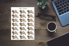 Coffee monday planner stickers for erin condren happy