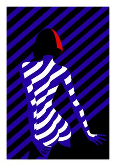 The Crazy, exhibition of 11 silkscreen prints by Malika Favre at Outline Editions - illustration - Illustration Design Graphique, Art Graphique, Illustration Art, Negative Space Art, Wallpaper Animes, Graphisches Design, Arte Pop, Crazy Horse, Art Abstrait