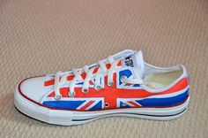 Union Jack on Converse All Stars - Youth. $140.00, via Etsy.