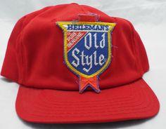 New vintage Heileman s OLD STYLE BEER snapback TRUCKER red 1980s CAP HAT 2c4d5c9d742d
