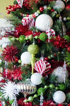 Whimsical Christmas Tree Decorating Ideas::#MichaelsMakers