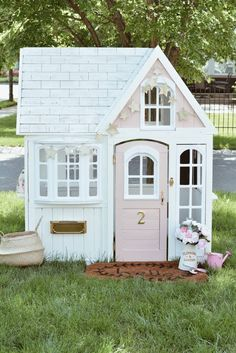Costco Backyard Shed . Costco Backyard Shed . Costco Playhouse Hack How to Transform An Outdoor Cedar Costco Playhouse, Cedar Playhouse, Backyard Playhouse, Build A Playhouse, Playhouse Ideas, Toddler Playhouse, Playhouse Decor, Simple Playhouse, Playhouse Furniture