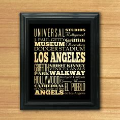 Los Angeles California Typography Art Canvas / by LegacyHouseArt