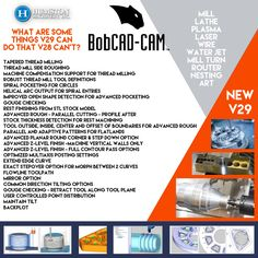 Have you seen BobCAD-CAM new V29 software? Contact Humston Machinery for more details.  www.humstonmachinery.com #cnc #cadcam#software #design