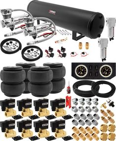 CHEV Air Suspension Kit,Bags,Valves,Tank,Pswitch,airline,Compress