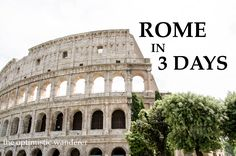 Itinerary to see the main attractions of Rome, Italy in just 3 days. 3 Days In Rome, Main Attraction, Rome Italy, Pisa, Wander, Louvre, Tower, Blog, Travel