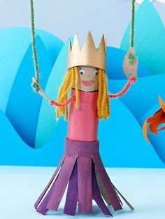 Learn how to make a pretty princess marionette.