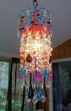 Gypsy Festival Petite Crystal Chandelier by sheriscrystals on Etsy