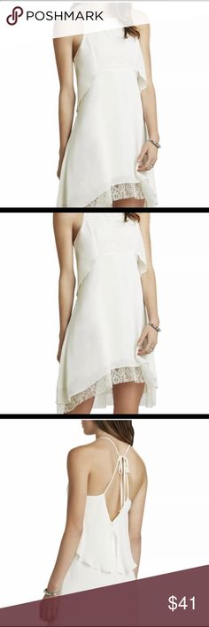 NWT off white flounce lace dress sz. 2 Beautiful new bcbgeneration dress 2 BCBGeneration Dresses Mini