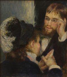 """""""La conversación"""" de Renoir il·lustra la portada del blog http://www.elbanquet.wordpress.com"""