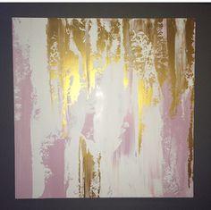Resumen de pintura blanco y oro de Blush por JenniferFlanniganart
