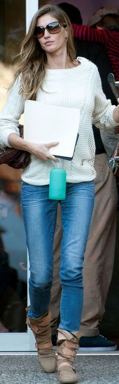 Sunglasses – Tom Ford  Shoes – Vivienne Westwood  Purse – Christian Dior  Bottle – Bkr  Sweater – Juicy Couture