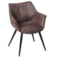 Designová židle Sofia s područkami, černá