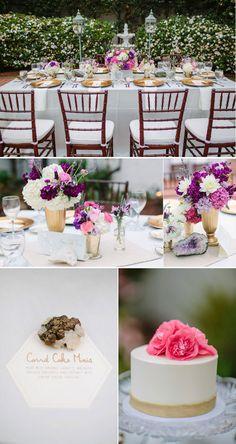 purple table decor