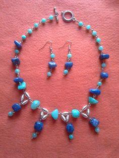 Tariza's Blue aqua & blue necklace.