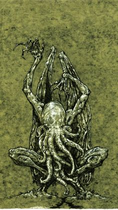 everything you need to know about the great cthulhu --->[link] or better yet you could read the astounding works of H. Lovecraft for yourself. vision of cthulhu Cthulhu Art, Call Of Cthulhu Rpg, Lovecraft Cthulhu, Hp Lovecraft, Yog Sothoth, Lovecraftian Horror, Eldritch Horror, Horror Fiction, Arte Obscura