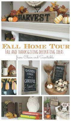 Fall Home Tour- lots of fall and Thanksgiving decorating ideas for your home