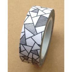 Washi Tape Black Grey White Geometric Design by SilentPoetryArts, $2.75