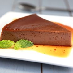 This Chocolate Flan is lower in fat and uses less sugar, but is huge on flavor. The chocolate flavor syrup adds extra richness to this  beloved Latin classic.
