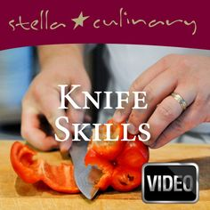 video tutorials with knife skills, kitchen prep, soups, cooking techniques and more!