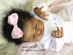 AA / Ethnic Reborn Baby Girl for sale - Esme by Laura Lee Eagles Reborn Dolls For Sale, Baby Dolls For Sale, Reborn Baby Girl, Reborn Babies, Crochet Toys, Crochet Baby, African American Baby Dolls, Realistic Baby Dolls, Laura Lee