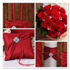 Red items for wedding.