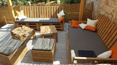 Pallets Patio Seating Furniture Set | 99 Pallets