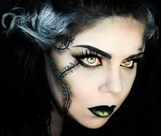 Bride of Frankenstein halloween makeup ideas Daiana Kir Halloween ...