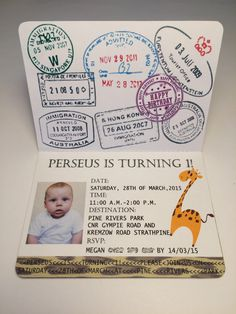 Sample Passport to the jungle birthday invitation. by KarlaBrownDesigns on Etsy https://www.etsy.com/listing/211044832/sample-passport-to-the-jungle-birthday